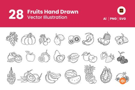 28-Fruits-Hand-Drawn-Git-Aset