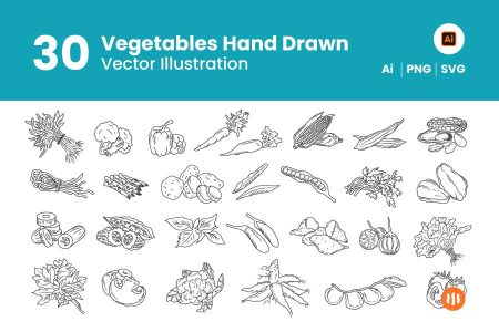 30-Vegetables-Hand-Drawn-Git-Aset