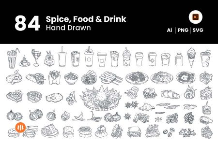 84-Spice-Food-&-Drink-Hand-Drawn-Git-Aset