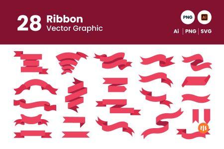 gitaset_28-ribbon-vector