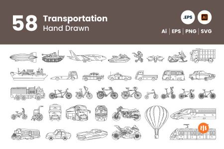 gitaset_58-transportation-hand-drawn